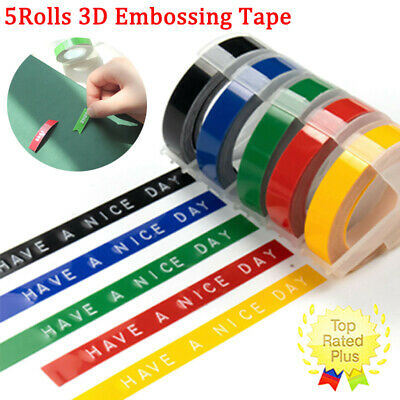 £4.95 • Buy 5Pcs 3D Embossing Tape Compatible For Dymo Junior And Omega Label Tapes 9mm*3m