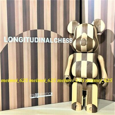 $2088.88 • Buy Bearbrick Medicom 2020 Longitudinal Chess Wood 400% Be@rbrick Karimoku Wooden