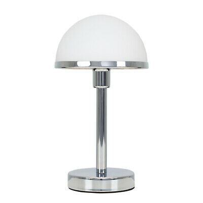 £29.99 • Buy Glass Dome Touch Table Lamp Dimmable Polished Chrome Lighting Bedside Light