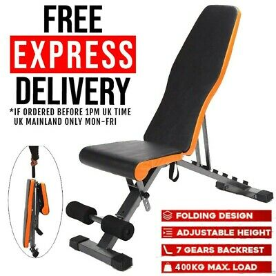 £61.59 • Buy Foldable Weight Bench Adjustable Flat/incline/decline Sit Up Home Gym Uk