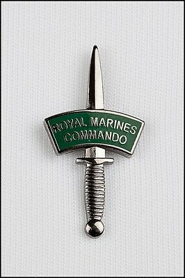 £6.95 • Buy Royal Marines Commando Silver Dagger And Patch Lapel Pin Or Walking Stick Mount