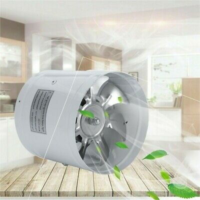 AU19.99 • Buy 4/6  Inch Inline Duct Fan Booster Exhaust Blower Air Cooling Vent Metal Blades