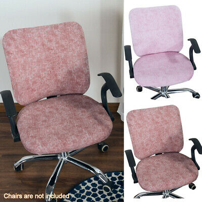 AU14.79 • Buy Split Office Computer Chair Covers Stretch Swivel Slipcover Desk Task Seat Cover