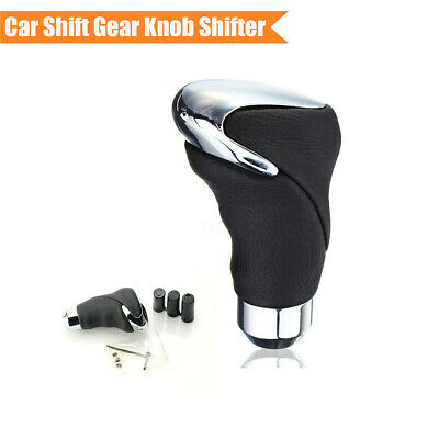 $14.49 • Buy Black Leather + Metal Manual/Automatic Car Gear Stick Shift Knob Lever Shifter