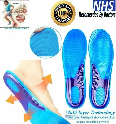 £3.49 • Buy Shoe Insoles Work Boots Feet Arch Orthotic Support Absorb Shock Gel Massaging UK