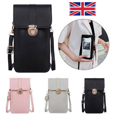 CrossBody Shoulder Bag PU Leather Wallet Change Bag Purse Touchable Mobile Phone • 4.75£