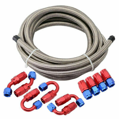AU69.99 • Buy AN6 -6AN -6 AN Stainless Steel Fuel Oil Gas Line Hose End Fitting Kit 5 Meters
