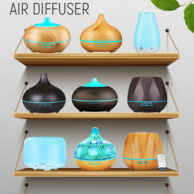 AU25.99 • Buy Ultrasonic Aroma Aromatherapy Diffuser Oil Electric Air Humidifier Essential LED