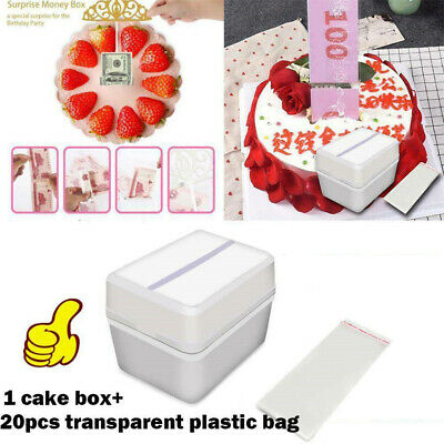 Gift Party Decoration Cake Topper Storage Boxes Surprise Money Box Cake ATM • 3.61£