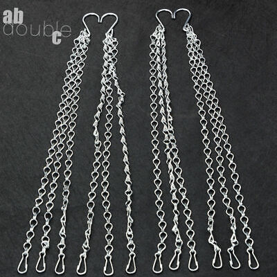 £5.46 • Buy 6Pcs Garden Hanging Basket Spare Metal Chains Easy Fit Replacement Hanger 45CM