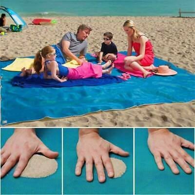 Extra Large No Sand Beach Mat Rug Picnic Blanket Waterproof Camping Travel Pack • 10.99£