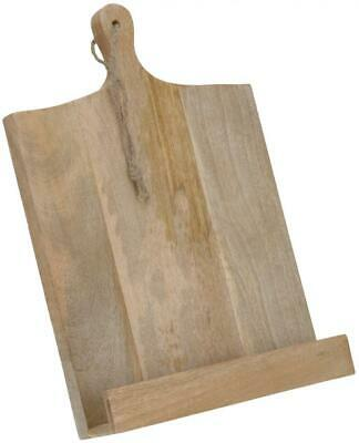 £14.24 • Buy Wooden Chopping Board Shape Cook Cookery Book Recipe Holder Reading Stand Rest