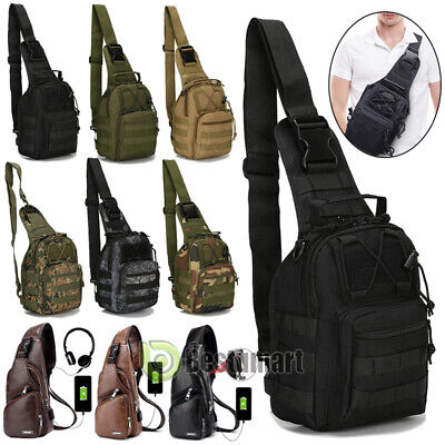 $15.99 • Buy Men Military Tactical Chest Pack Outdoor Hiking Travel Sling Small Shoulder Bag