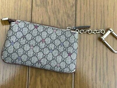 AU265.92 • Buy Authentic Gucci Micro Gg Star Zip Coin Purse Case Wallet Pouch Key Ring