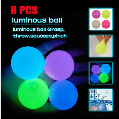AU15.99 • Buy 8PCS Sticky Ceiling Balls Glow In The Dark Stress Relief Globbles Stress Fun Toy