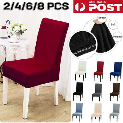 AU6.99 • Buy 1-8 PCS Dining Chair Covers Spandex Slip Cover Stretch Wedding Banquet Party