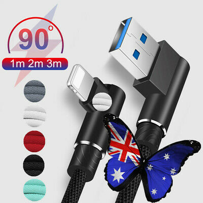 AU5.39 • Buy AU 1~3M 90° Right  Micro USB Fast Charger Data Cable For Android IPhone Type C