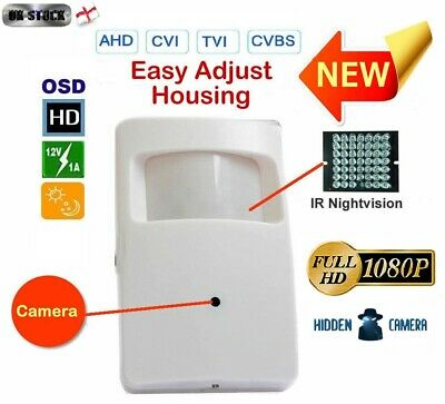 View Details IR 2MP 1080p PIR CCTV Hybrid 4in1 Covert Day-Night Spy Camera UK • 32.00£