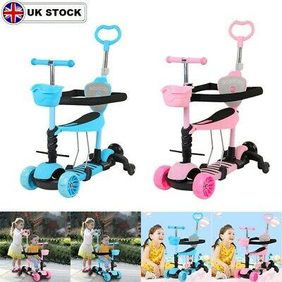 £31.03 • Buy Kids Scooter 5-in-1 Adjust Seat Toddler Kick Scooter Flashing Wheels Childs Toys