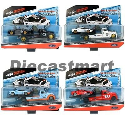 $10.99 • Buy Maisto 1:64 Elite Transport Heritage Edition Diecast Car Ford GT & Flatbed 15108