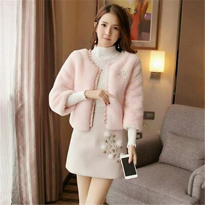 £61.54 • Buy 2019 Women Clothes Suit Women Faux Fur Beading Coat And Hairball Embroidery