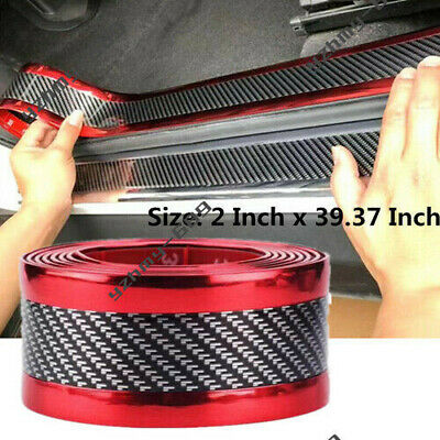 $12.33 • Buy Parts Accessories Carbon Fiber Vinyl Car Door Sill Scuff Plate Sticker Protector