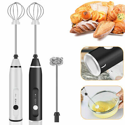 £9.40 • Buy Electric Milk Frother Whisk Mixer Double Stirrer Egg Beater Cordless Adjustable