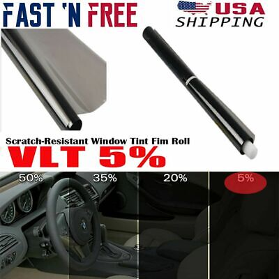 $ CDN9.69 • Buy Uncut Window Tint Roll 5% VLT 1.6*10 Ft Home Commercial Office Auto Film Sticker