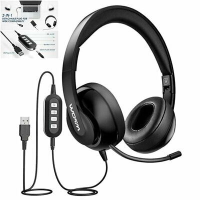 £22.29 • Buy Mpow 3.5mm USB Computer Headset Wired Over Ear Headphones For PC Laptop Skype