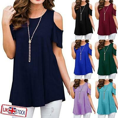 £7.39 • Buy Plus Size Women Summer Cold Shoulder Tops Short Sleeve Blouse Casual T-Shirt Tee