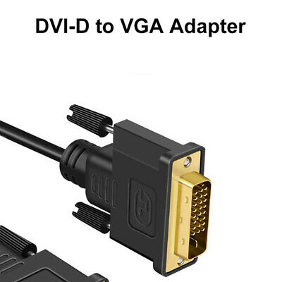 AU7.69 • Buy DVI D 24+1 25 Pin Male To VGA Female Adapter 1080P Video Active Cable Conver OL