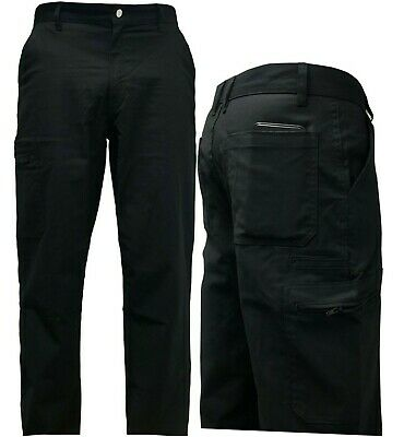 £9.50 • Buy Mens Cargo Combat Work Pants Stretch Trousers Hard Working  Multi Zip Pockets