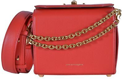 AU907.26 • Buy New Alexander McQueen 501105 $1,990 Lust Red Leather Box 19 Crossbody Purse Bag