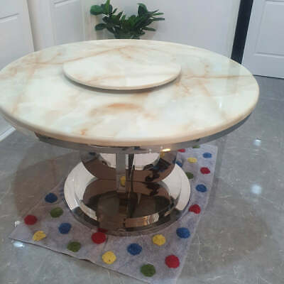 AU2100 • Buy Circle Marble Dining Table With 4 Chairs
