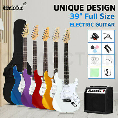 AU179.95 • Buy Melodic 39  Stratocaster SSS Electric Guitar Set 25W Amplifier W/Carry Bag Strap