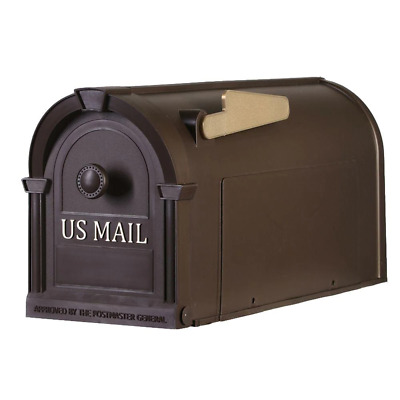 $23.28 • Buy POSTAL PRO Plastic Large Mailbox Post Mount Outdoor Residential Mail Box Bronze