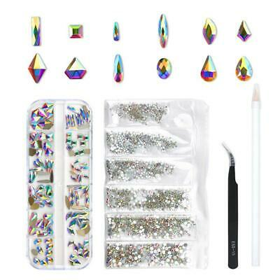 120-Crystal Glass AB 1728-Rhinestones For Nail Art Craft, 3D Decorations Gems.  • 20.72£