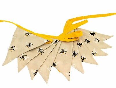 £9.49 • Buy Countryside Bee Design Double Sided Textile Bunting Decoration