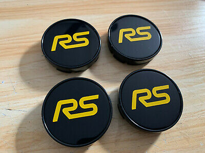 £22.99 • Buy 4x Ford Focus Rs Mk2 Alloy Wheel Centre Caps 54.5mm Gloss Yellow Facelift 2009