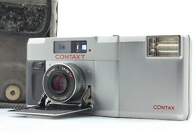 $ CDN599.89 • Buy [Opt. MINT] Contax T Silver Rangefinder 35mm Film Camera W/ T14 Flash From JAPAN