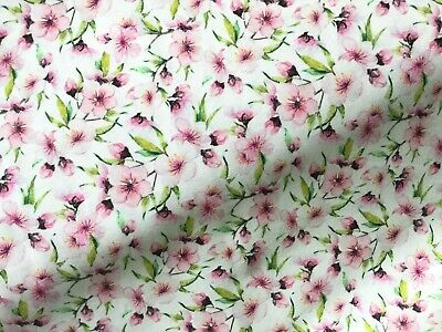 £6.50 • Buy 100% Cotton Fabric John Louden Cherry Blossom Floral Flowers Pastels