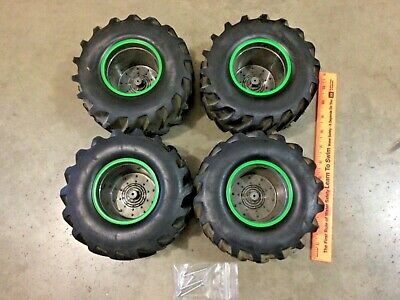 New Bright Remote Control RC Grave Digger Monster Truck Tire Set, Free Shipping • 20.85£