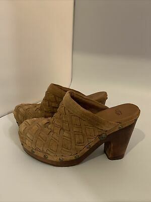 £99 • Buy Ugg Clogs Shoes Leather Suede Weave UK 4.5 100% Genuine