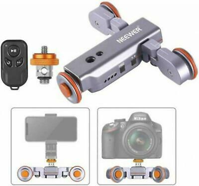 Neewer 3-Wheels Wireless Camera Video Auto Dolly Car With Remote Control JP • 88.41£