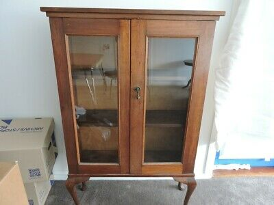 AU150 • Buy Antique Bookcase And Display Cabinet, With Opening Glass Doors