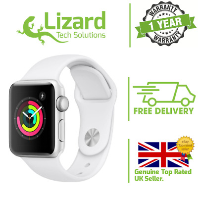 $ CDN251.64 • Buy Apple Silver Smartwatch Series 3 38mm 4G Cellular White Sports Band A1858