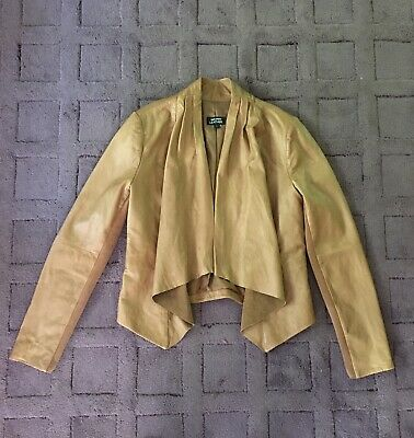 AU35 • Buy Just Jeans Size 8 Tan Leather Waterfall Jacket
