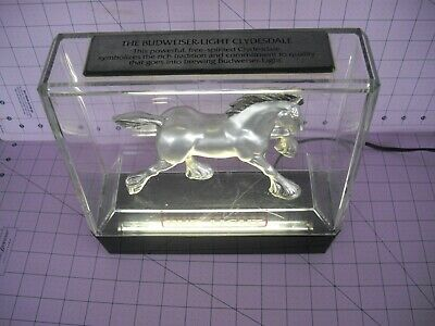 $ CDN62.77 • Buy Bud Light Clydesdale Horse Vintage Electric Lamp Bar Display Budweiser Nice