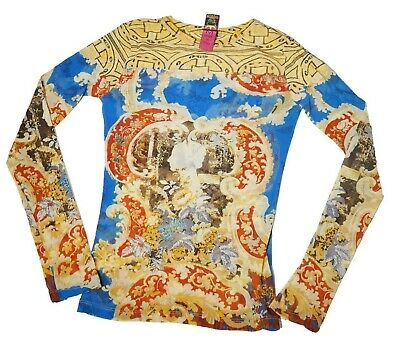 AU107.99 • Buy Save The Queen Vintage Baroque Mesh Top Long Sleeves S