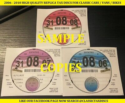 Classic Car Tax Discs Replica Perforated 1923-2015 All Years ROVER P5 P6 METRO • 9.99£